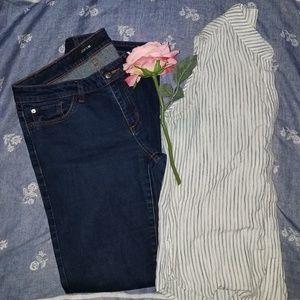 Joe's Dark Denim Skinny Jeans